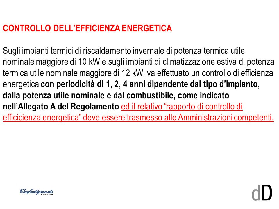 CONTROLLO DELL'EFFICIENZA ENERGETICA