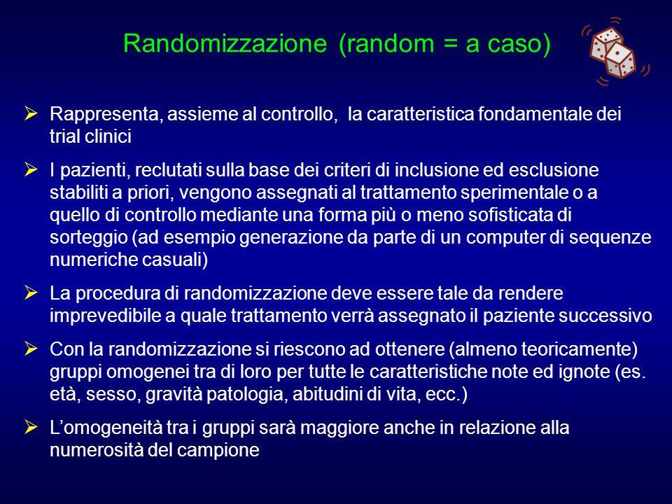 Randomizzazione (random = a caso)