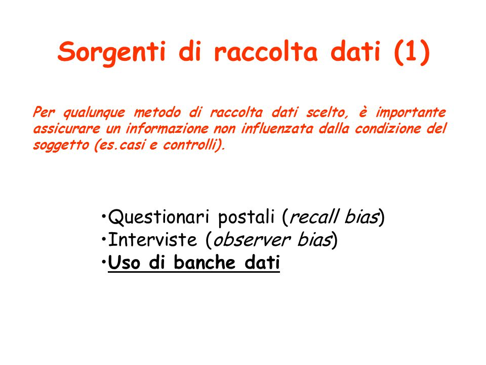 Sorgenti di raccolta dati (1)
