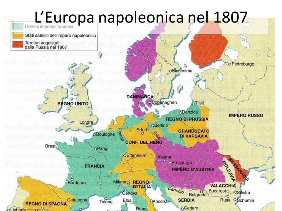 L'Europa napoleonica nel 1807
