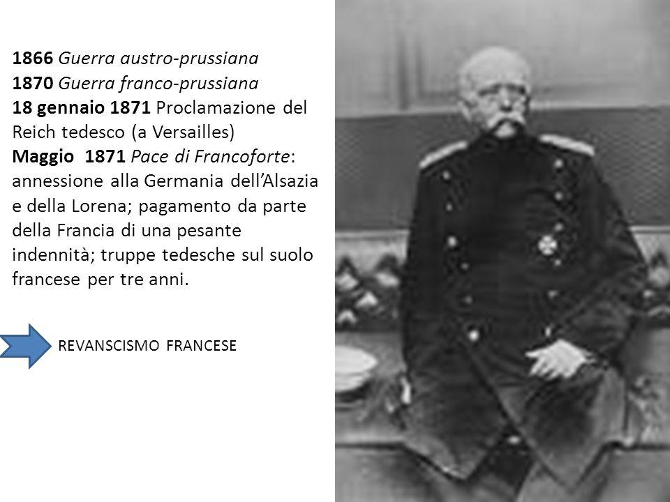 1866 Guerra austro-prussiana 1870 Guerra franco-prussiana