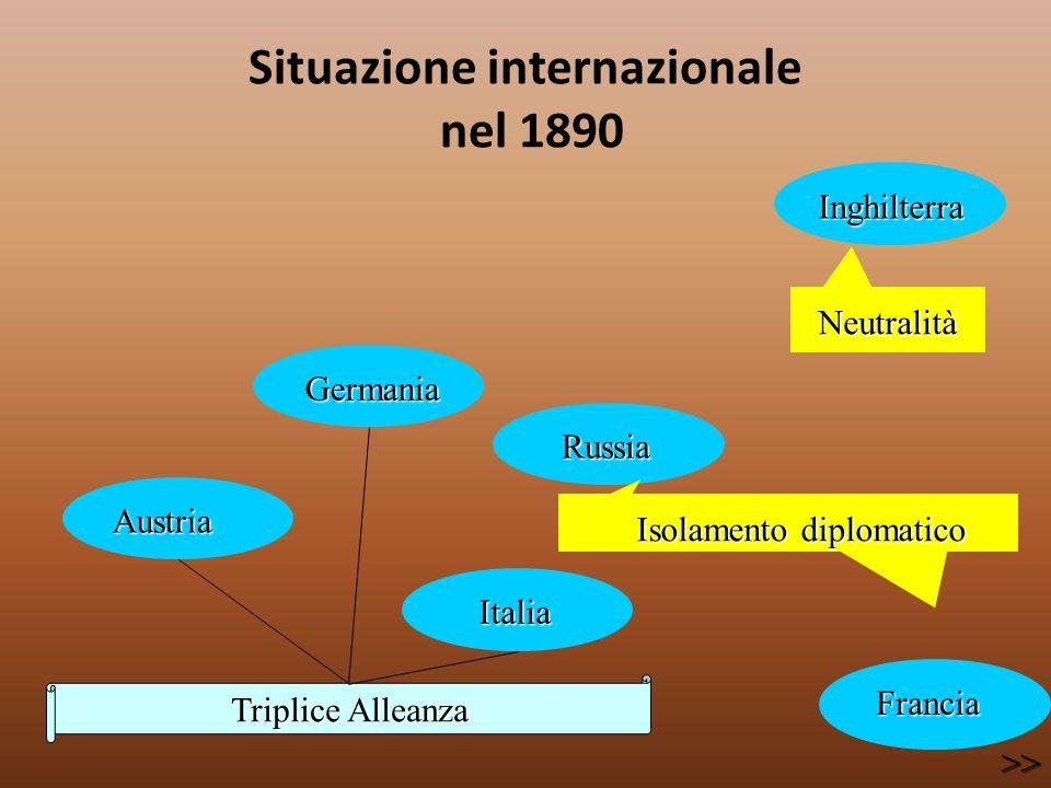 Situazione internazionale nel 1890