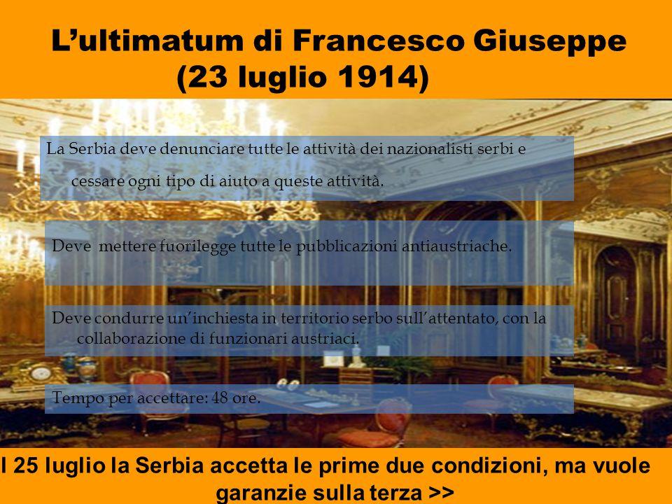 L'ultimatum di Francesco Giuseppe (23 luglio 1914)
