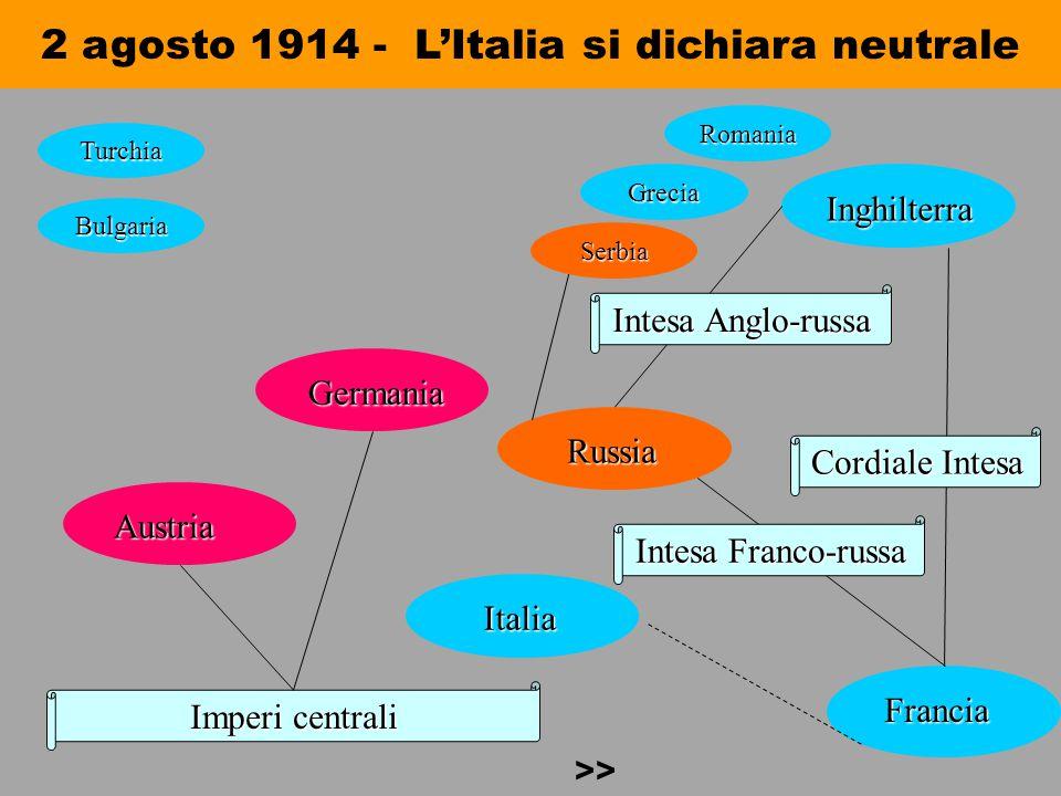 2 agosto 1914 - L'Italia si dichiara neutrale