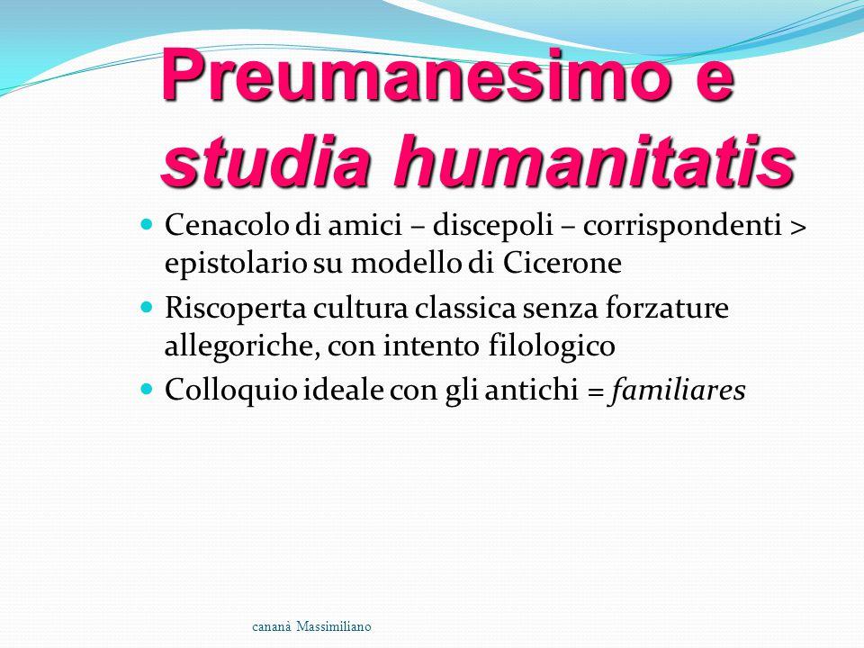 Preumanesimo e studia humanitatis