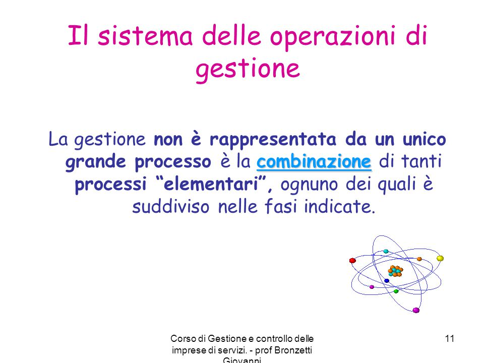 Il sistema delle operazioni di gestione