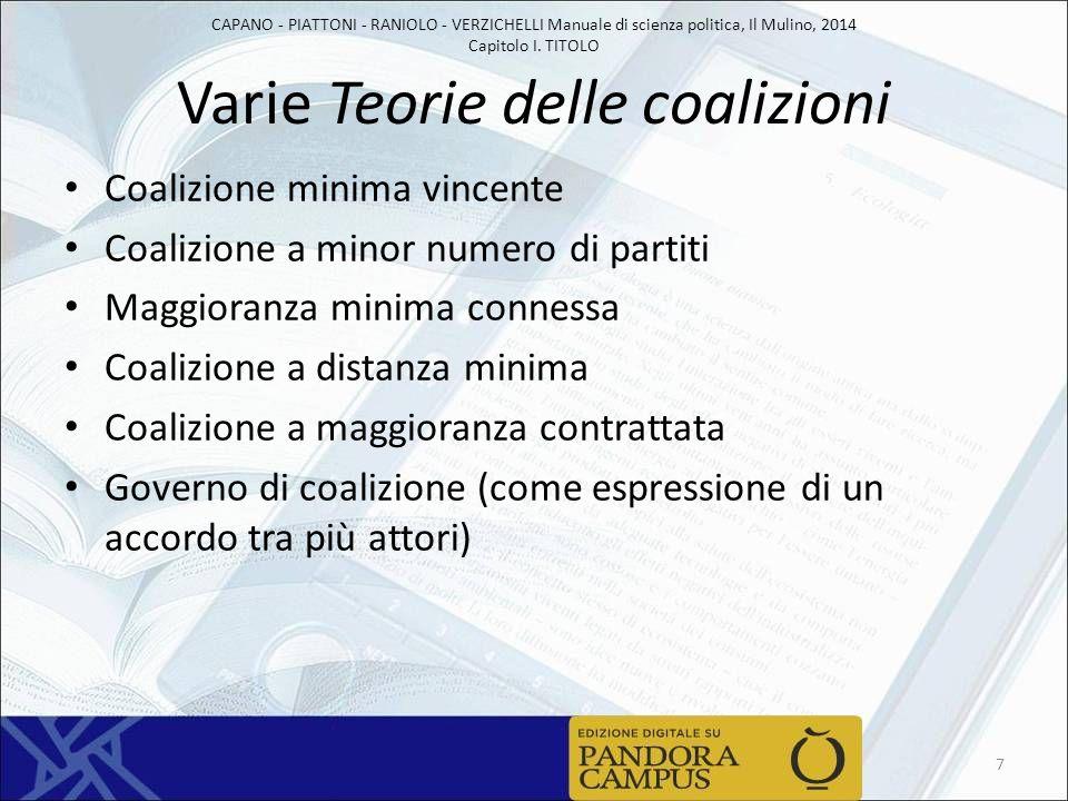 Varie Teorie delle coalizioni