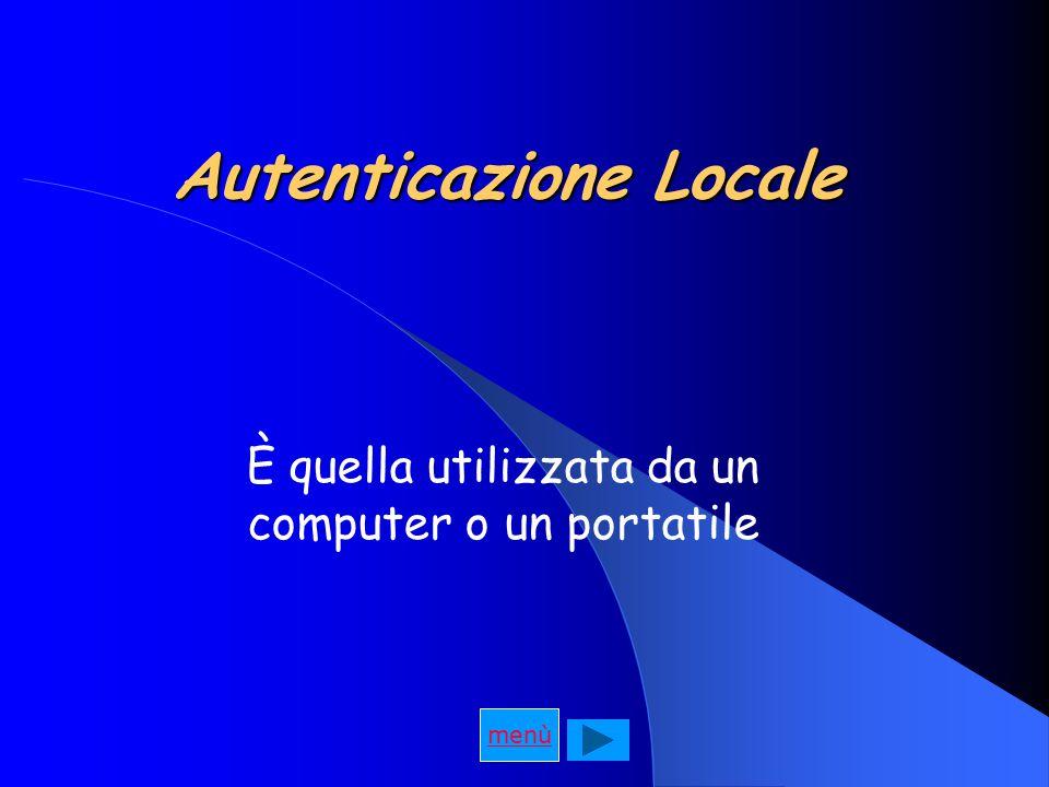 Autenticazione Locale