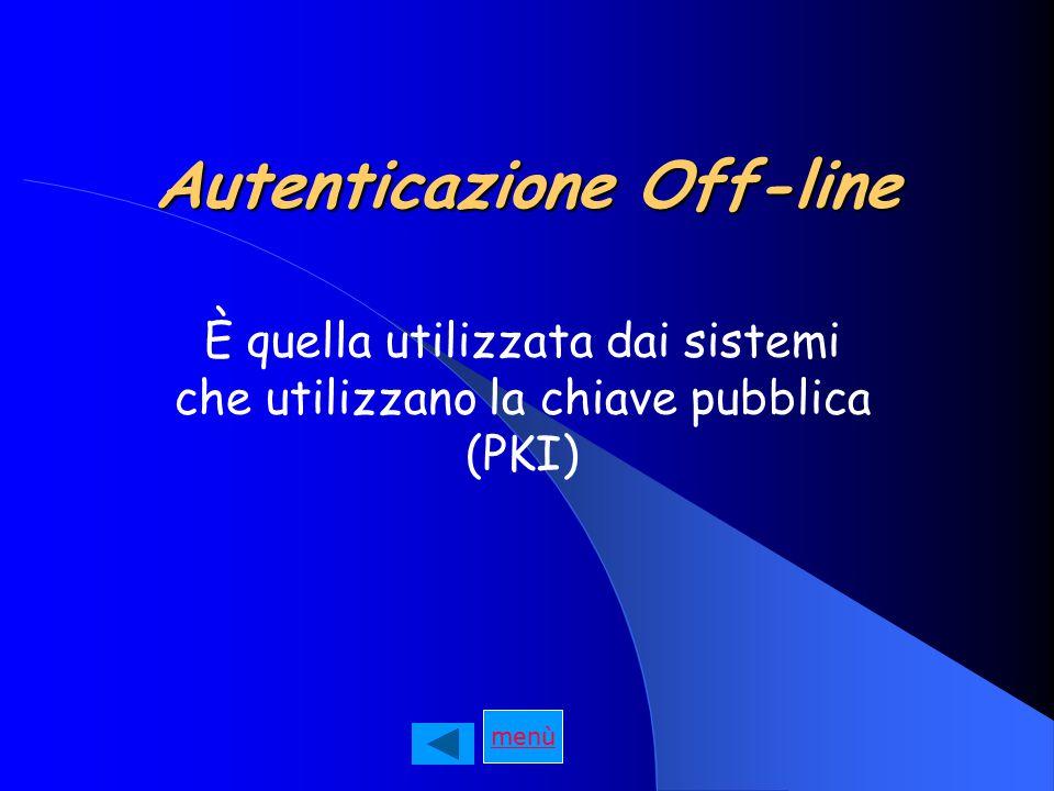Autenticazione Off-line