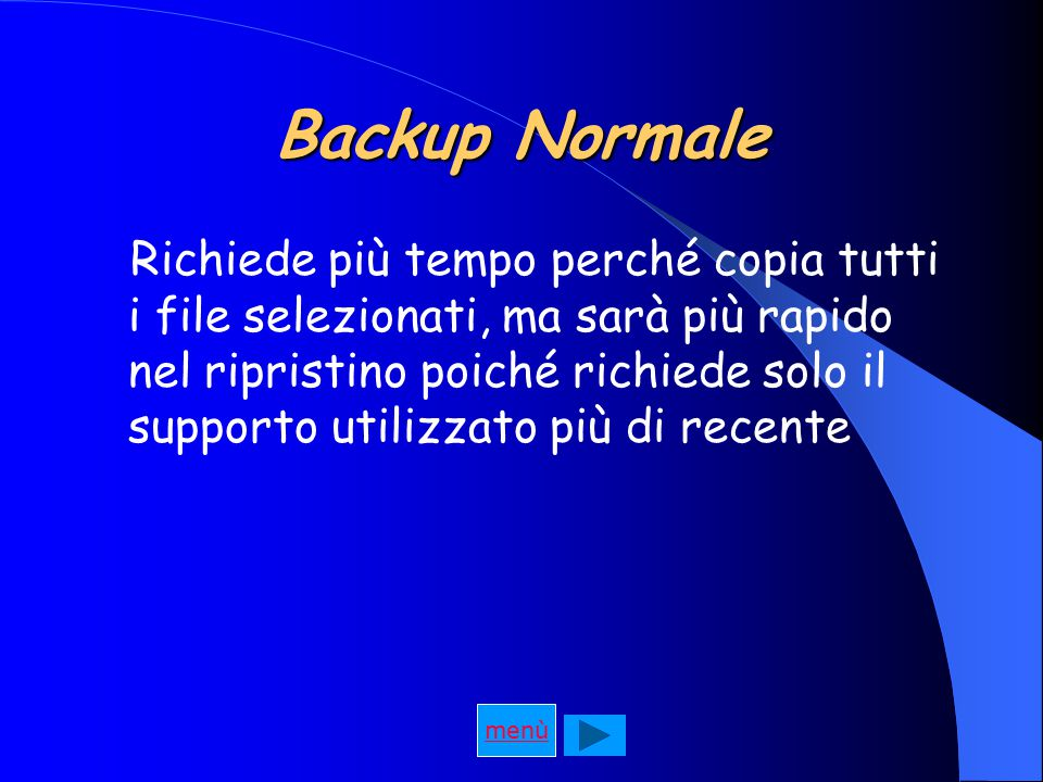 Backup Normale