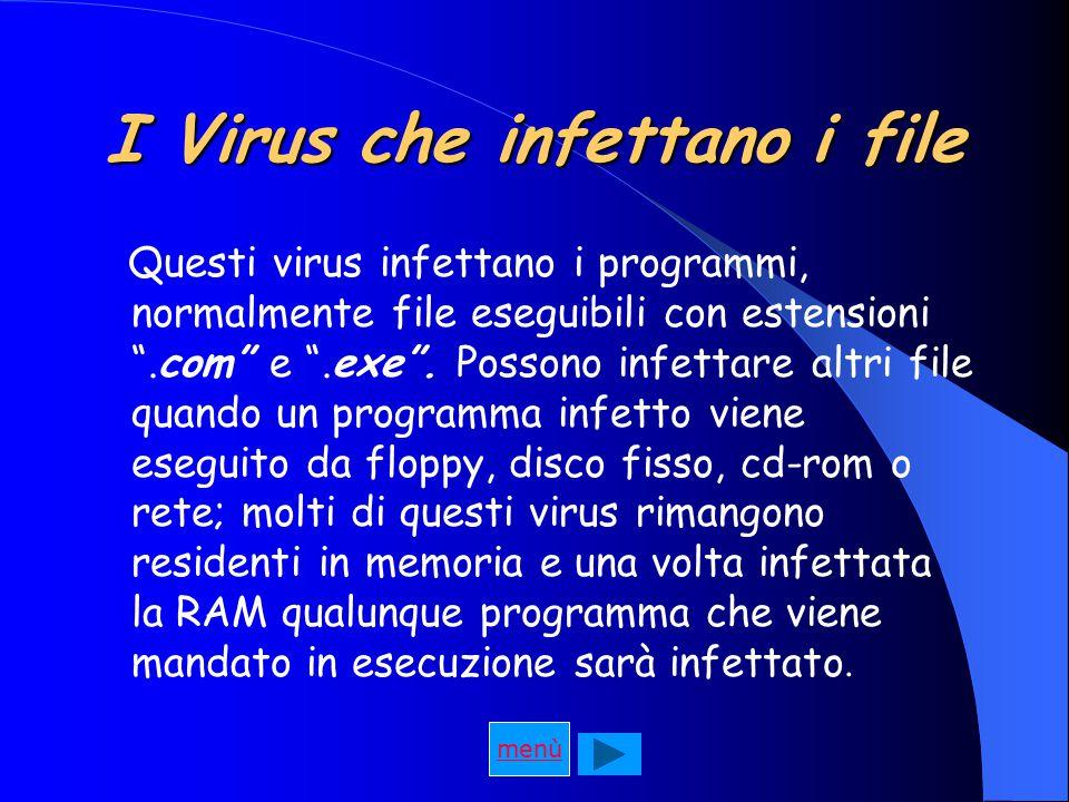I Virus che infettano i file