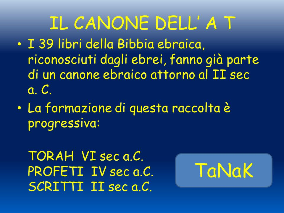 TaNaK IL CANONE DELL' A T
