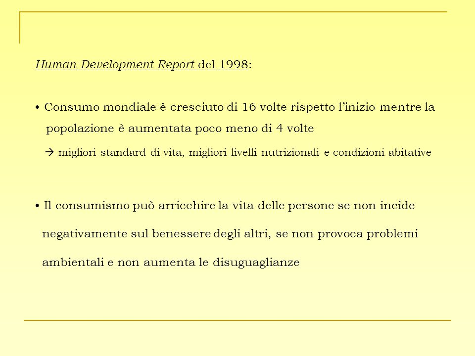 Human Development Report del 1998: