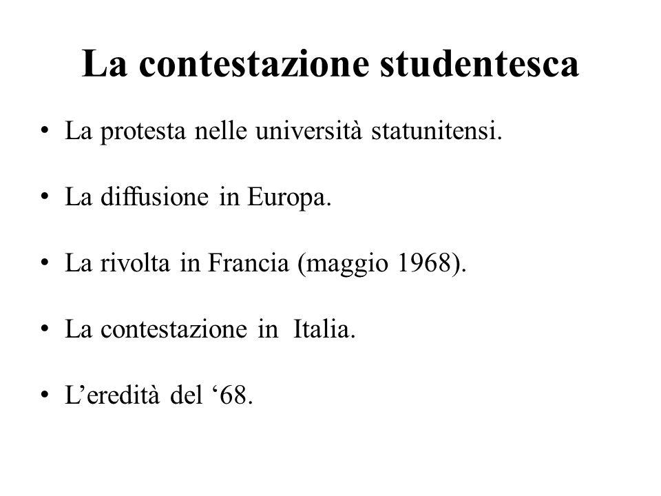 La contestazione studentesca