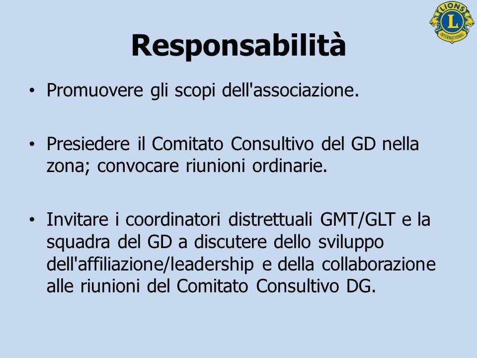 Responsabilità Presentare i rapporti del Comitato Consultivo DG e inviarli agli officer distrettuali competenti.