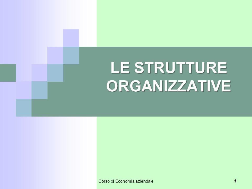 LE STRUTTURE ORGANIZZATIVE