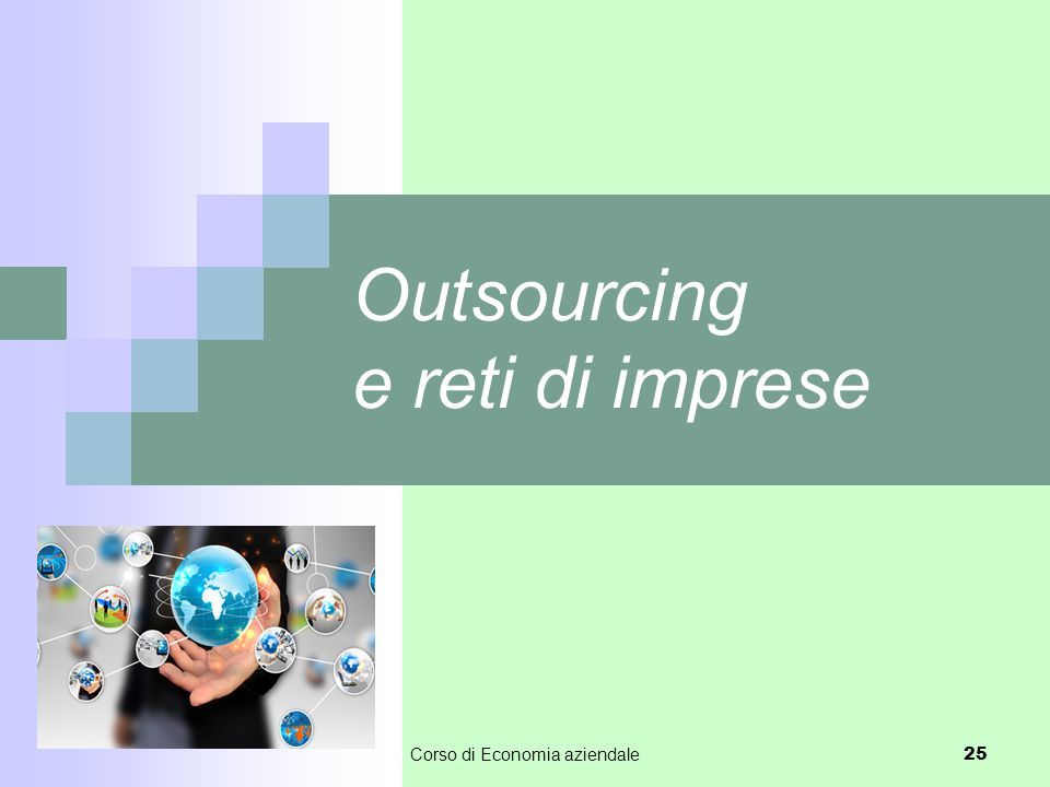 Outsourcing e reti di imprese