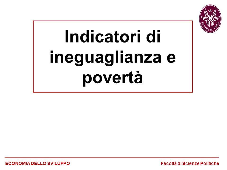 Indicatori di ineguaglianza e povertà
