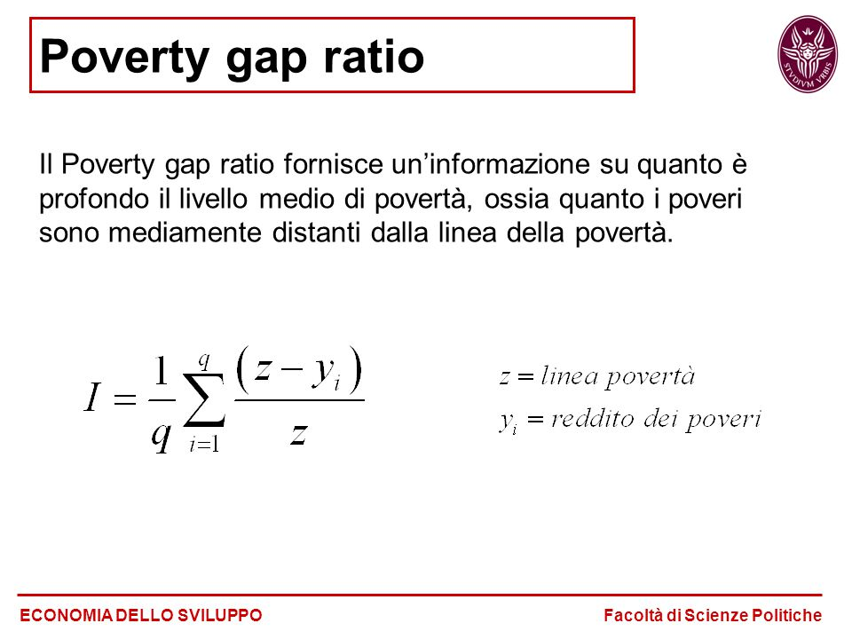Poverty gap ratio