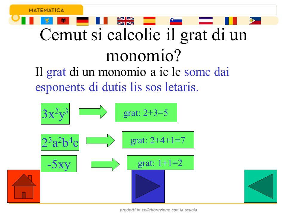 Cemut si calcolie il grat di un monomio