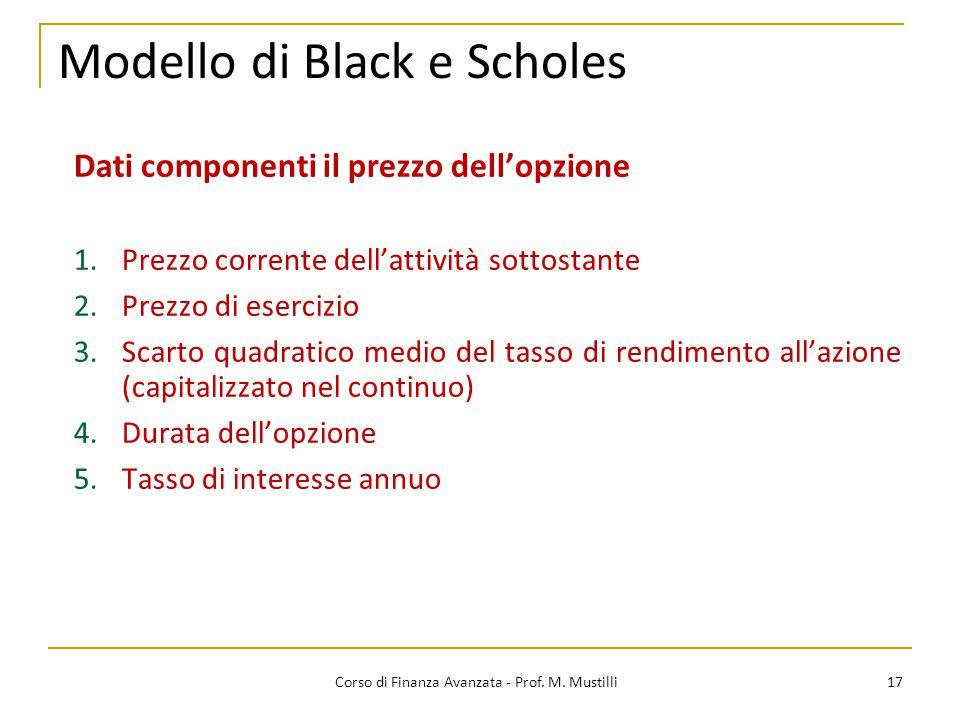 Modello di Black e Scholes