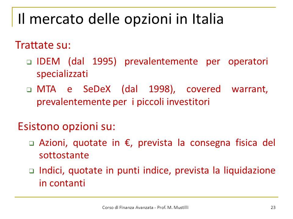 Il mercato delle opzioni in Italia