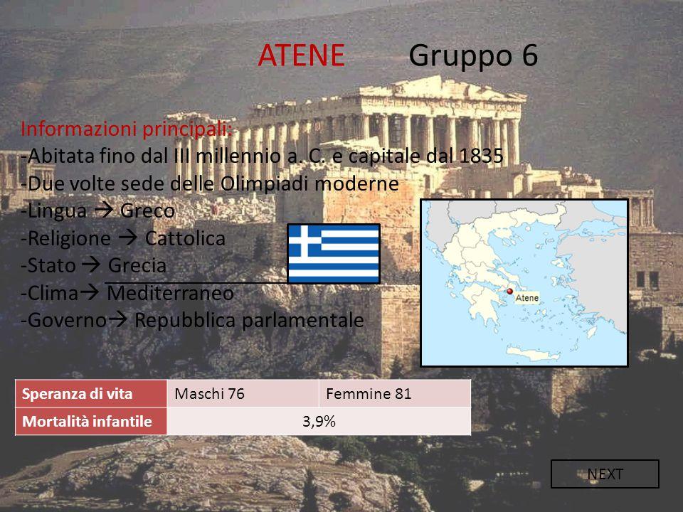 ATENE Gruppo 6 Informazioni principali: