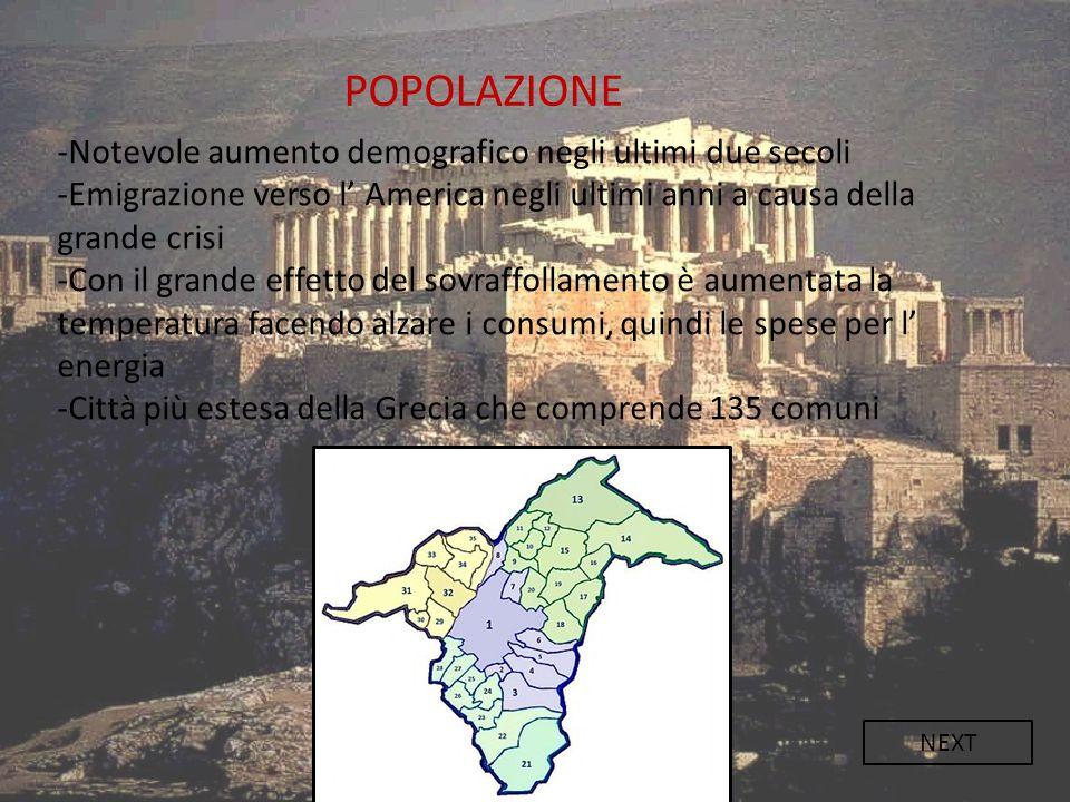 POPOLAZIONE -Notevole aumento demografico negli ultimi due secoli