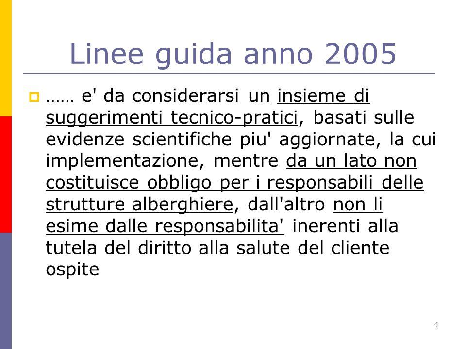 Linee guida anno 2005