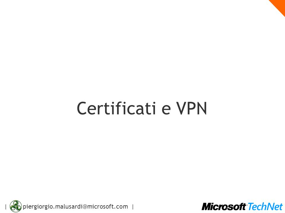 Certificati e VPN