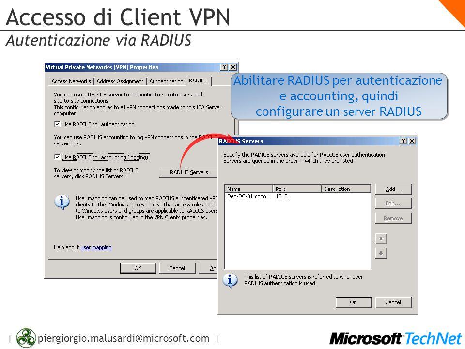Accesso di Client VPN Autenticazione via RADIUS