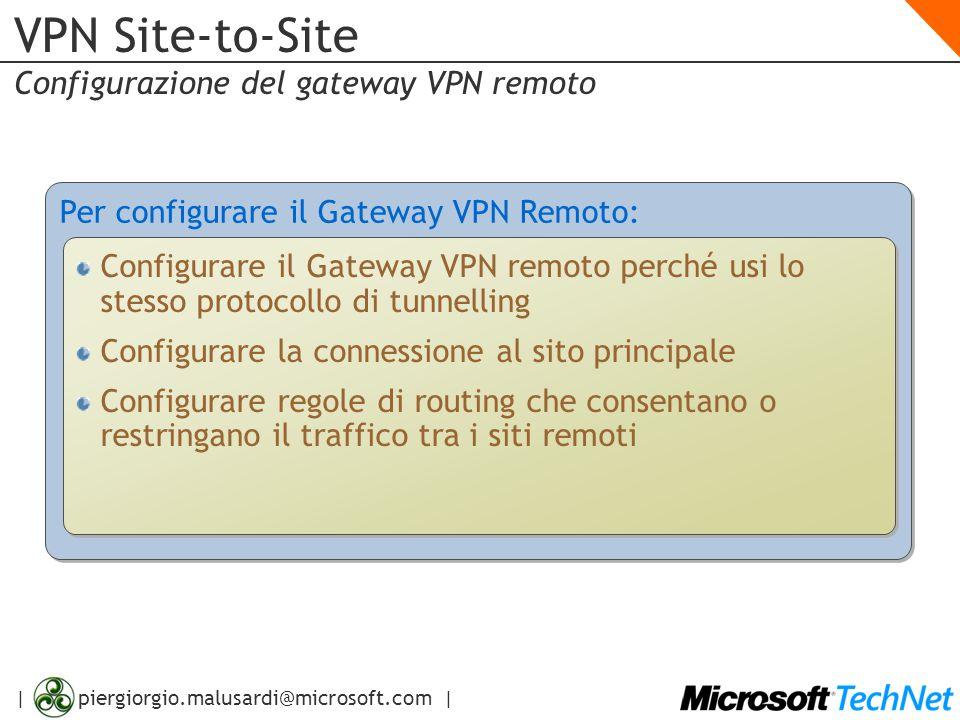 VPN Site-to-Site Configurazione del gateway VPN remoto