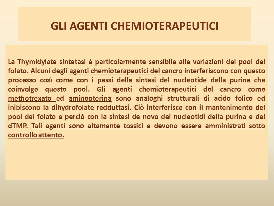 GLI AGENTI CHEMIOTERAPEUTICI