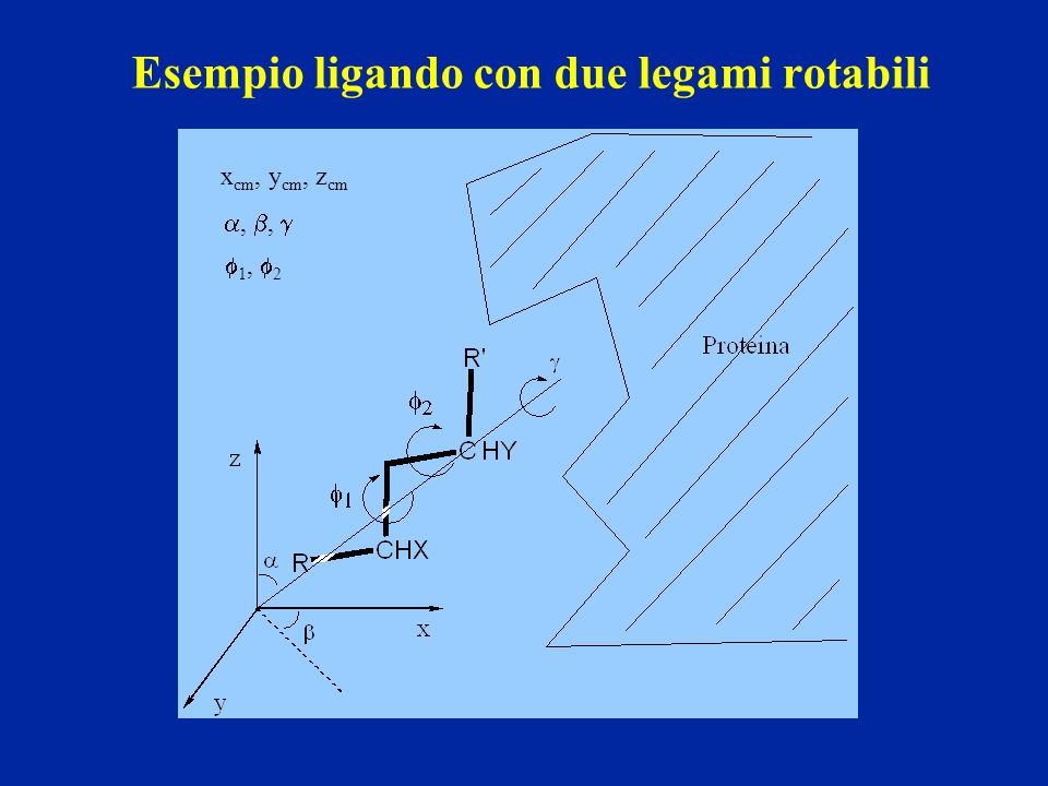 Esempio ligando con due legami rotabili
