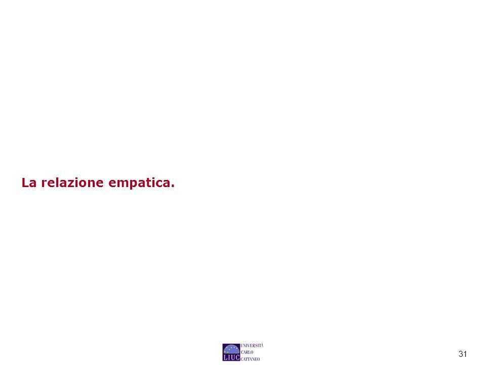 La relazione empatica.