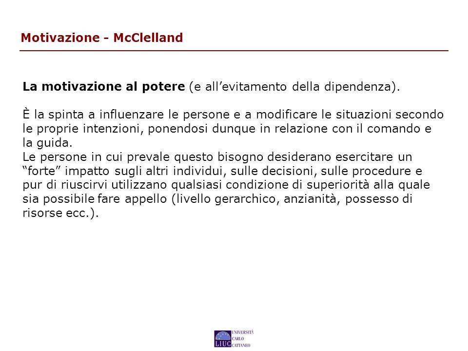 Motivazione - McClelland