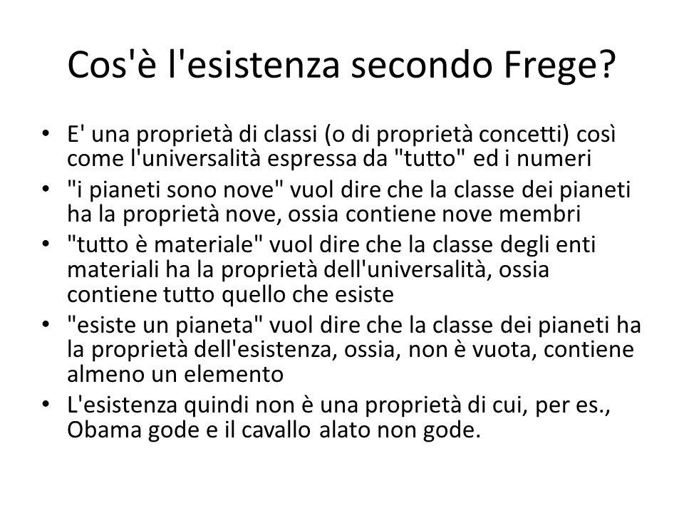 Cos è l esistenza secondo Frege