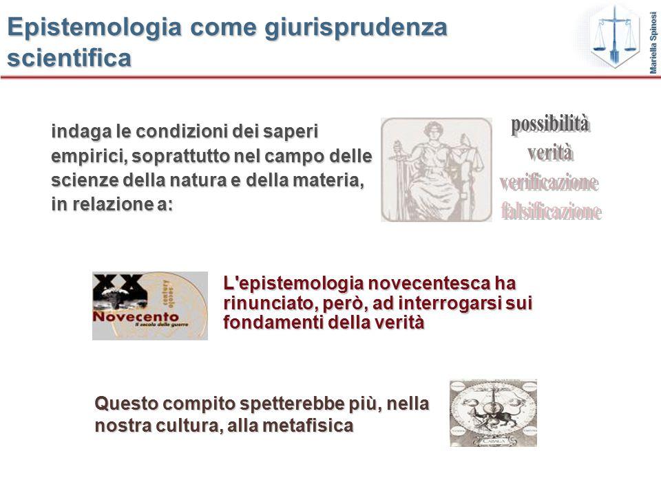 Epistemologia come giurisprudenza scientifica