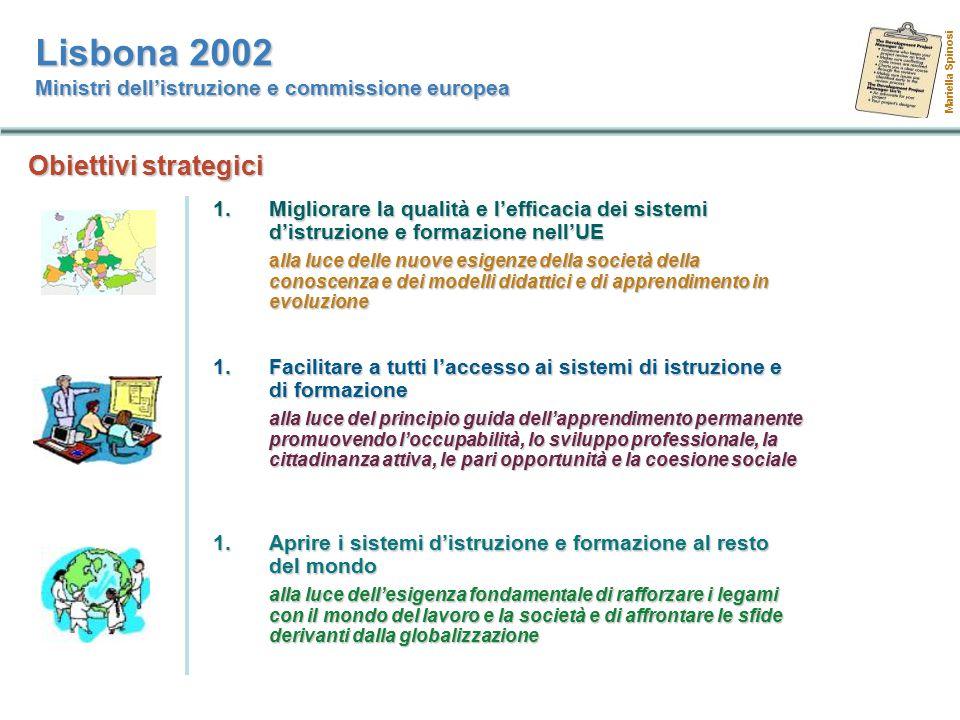 Lisbona 2002 Ministri dell'istruzione e commissione europea