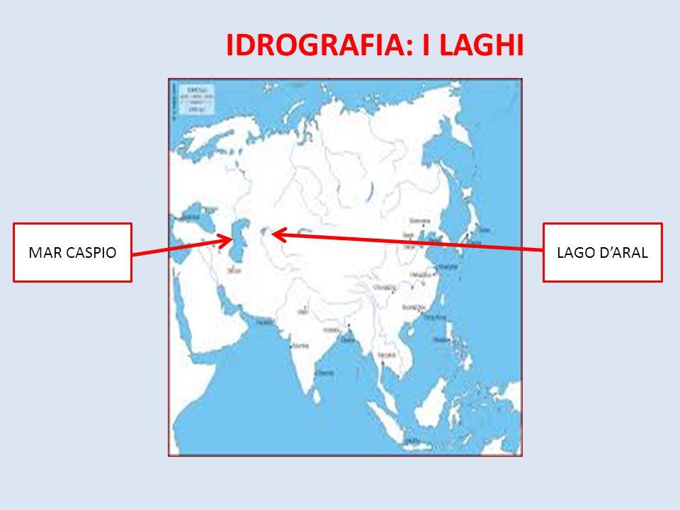 IDROGRAFIA: I LAGHI MAR CASPIO LAGO D'ARAL
