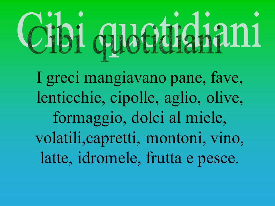 Cibi quotidiani