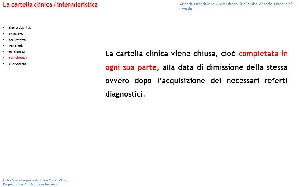 La cartella clinica / infermieristica