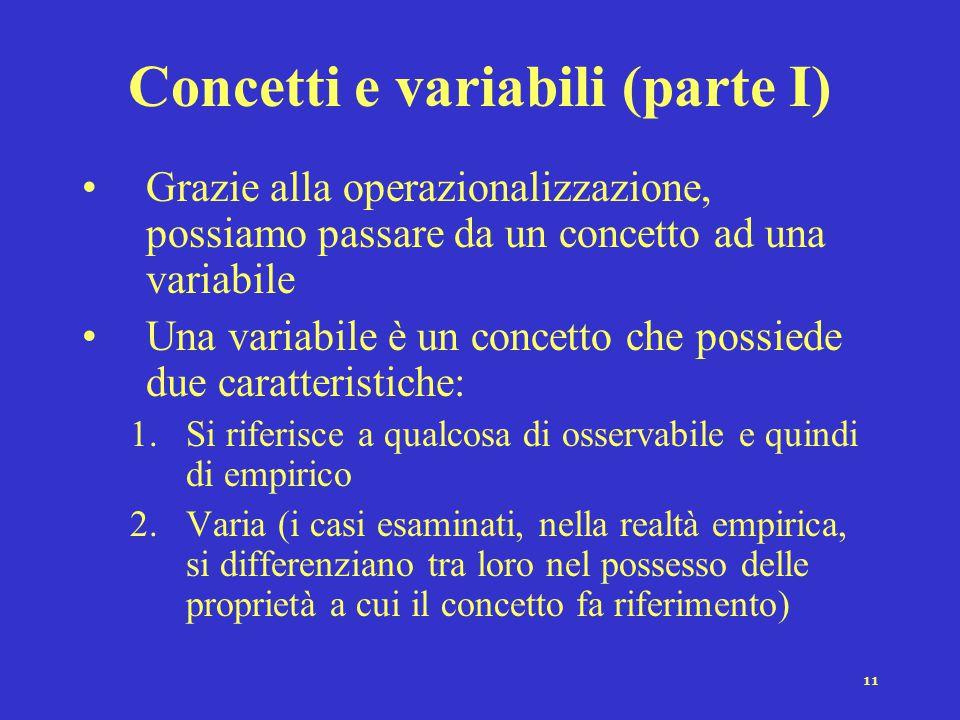 Concetti e variabili (parte I)