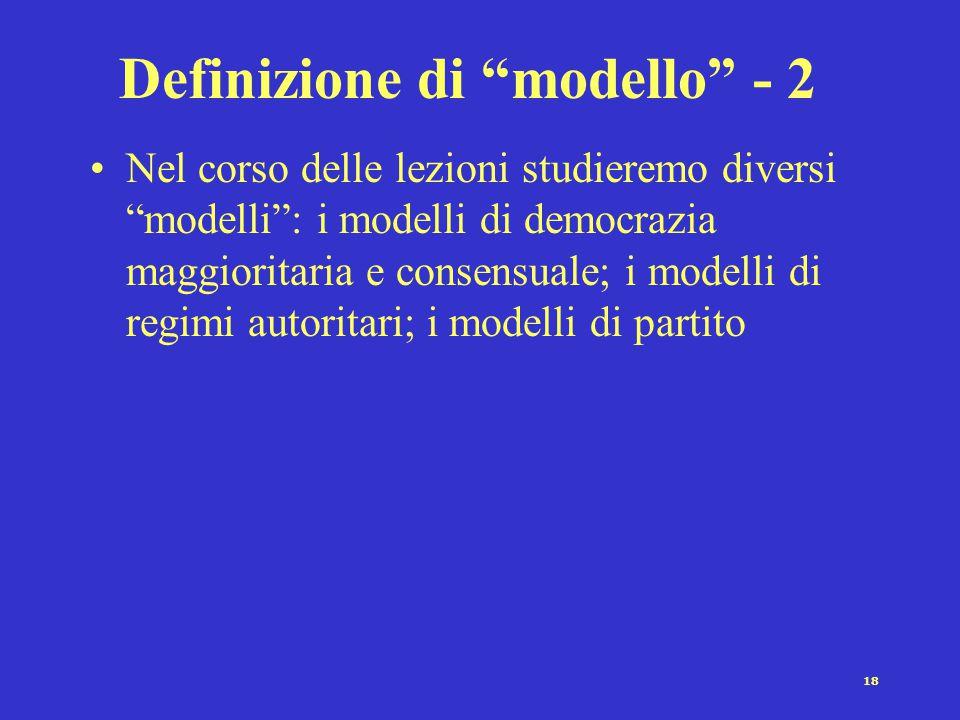 Definizione di modello - 2