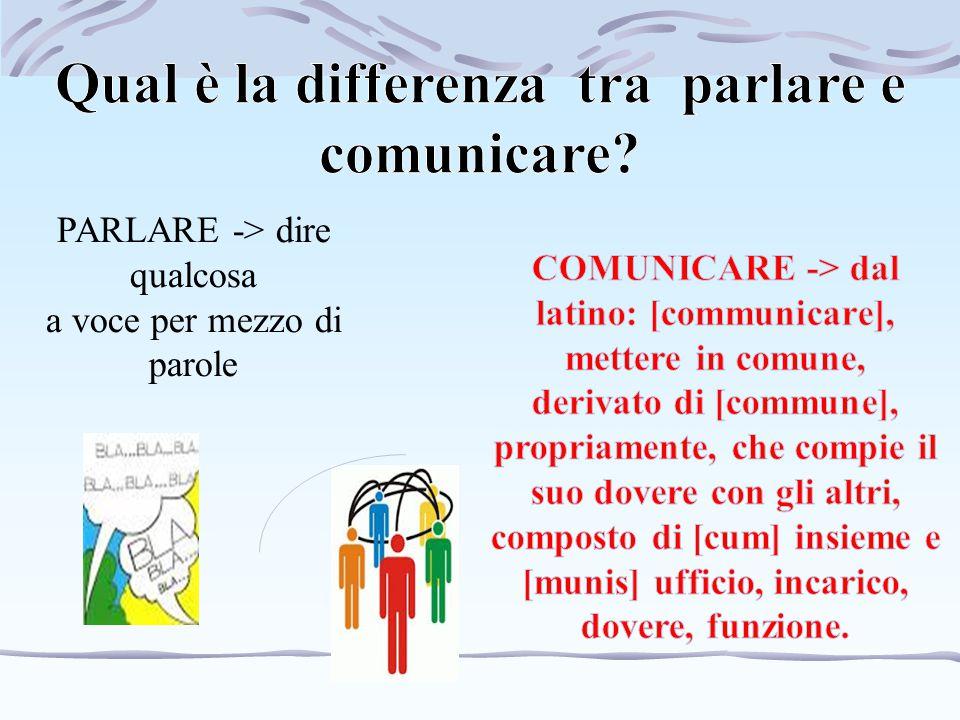 Qual è la differenza tra parlare e comunicare