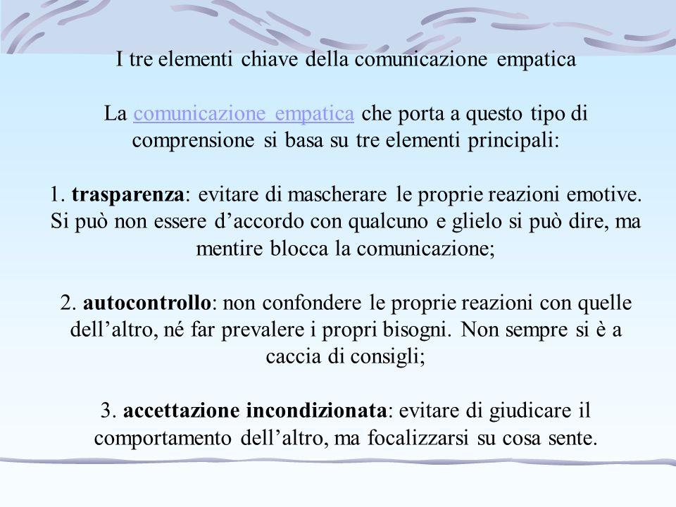 I tre elementi chiave della comunicazione empatica