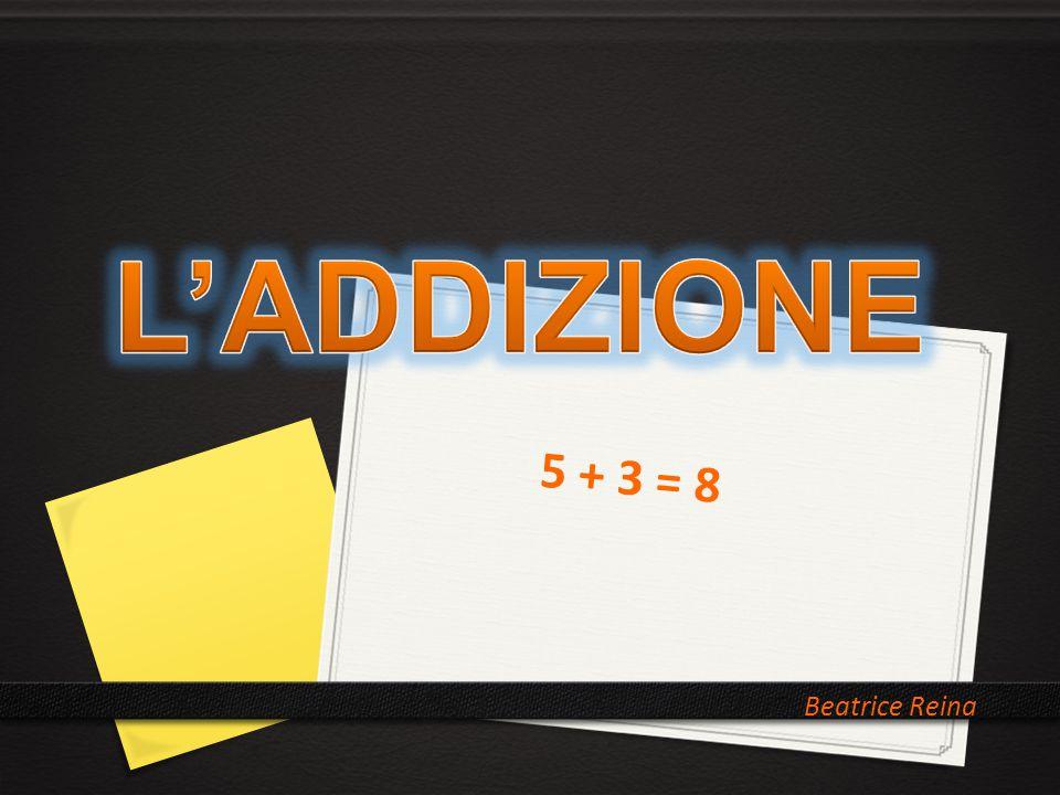 L'ADDIZIONE 5 + 3 = 8 Beatrice Reina