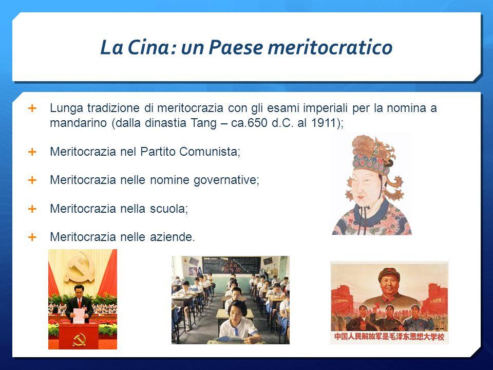 La Cina: un Paese meritocratico
