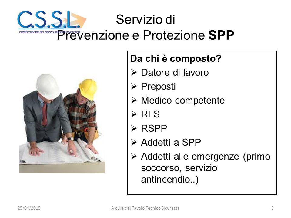Servizio di Prevenzione e Protezione SPP