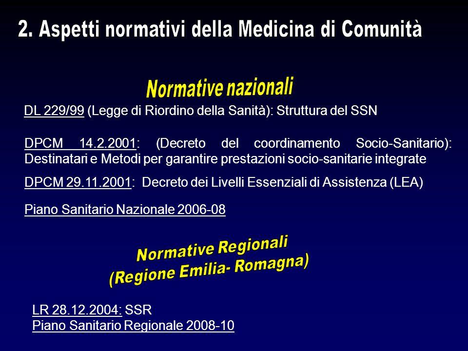 2. Aspetti normativi della Medicina di Comunità